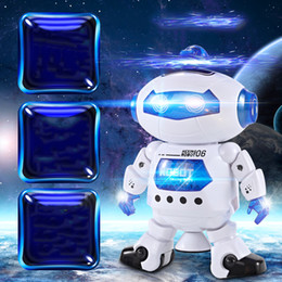 Electronics Dance Music Canada - NEW Dancing Robert Electronic Toys With Music And Lightening Best Gift For Kids Model Toy Fast Free Shipping 60pcs
