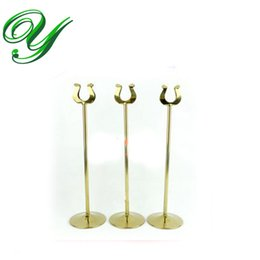 $enCountryForm.capitalKeyWord UK - table number holder gold card stand silver wedding place card holders U shape table decoration stainless 10-30cm business card holder 5size