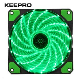 $enCountryForm.capitalKeyWord Canada - Wholesale- KEEPRO Original 15 Lights 4 Color LED PC Computer Case Heatsink Cooler Cooling Fan DC 12V 4P 3P 120mm Red Green White Blue