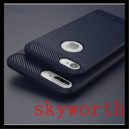 Iphone 5s carbon case online shopping - Slim Armor Case for iPhone Plus S SE Carbon Fiber Brushed Shockproof TPU Soft Back Cover