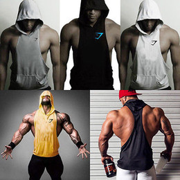 $enCountryForm.capitalKeyWord Canada - Wholesale-New Men's Summer Sleeveless Vest Sweatshirts Outwear Hoodie Hooded Tops Shirts