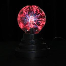 Magic Ball Plasma Canada - Wholesale- 3 inch Magic Plasma Ball Light Kids Room Decor Gift Box Lightning Light Lava Lamp Christmas Party Decor Cristal Lamp