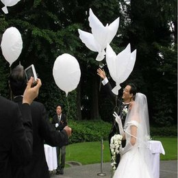 $enCountryForm.capitalKeyWord Canada - Wedding Helium Inflatable Biodegradable White Dove Balloons for Wedding Party Decoration Doves Shaped Bio Balloons 104*40CM