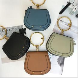 Vintage saddles online shopping - 2017 New woman Euramerican Fashion single shoulder bag messenger bag crossbody genuine leather saddle handbags Luxury brand