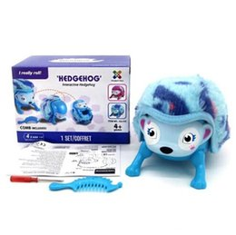 Rolling Pets Toys Canada - Interactive Pet Hedgehog with Multi-modes Lights Sounds Sensors Light-up Eyes Wiggy Nose Walk Roll Headstand Curl up Giggle Toys for Kids