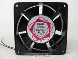Free Shipping SUNON DP200A P N 2123HBL 220V 12038 Cabinet Cooling Fan 120mm  2 Wire AC Fan