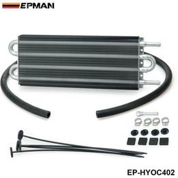 Oil Cooling Radiators UK - EPMAN -Universal 4 Row Aluminum Remote Transmission Oil Cooler Auto-Manual Radiator Kit 402 OC-1402 2,500 lbs EP-HYOC402
