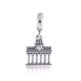 Chinese  Authentic 925 Sterling Silver Beads Brandenbung Gate Dangle Charm Fits European Pandora Style Jewelry Bracelets & Necklace 791081 manufacturers