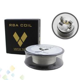 nichrome wire 24 gauge 2018 - Nichrome 80 Wire Vapor Tech 30 Feet Spool AWG 22 24 26 28 30 32 Gauge for DIY RDA Atomizer DHL Free