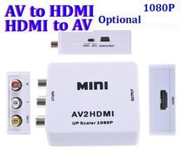 Rca tv vcR online shopping - Mini style AV to HDMI P AV2HDMI AV to HDMI to AV Converte Signal Converter for TV VHS VCR DVD Records Chipsets Shown