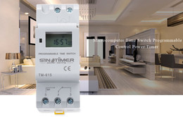 electronics relays 2018 - SINOTIMER Brand Microcomputer Electronic Programmable Digital TIMER SWITCH Time Relay Control 110 220V AC 16A Din Rail M