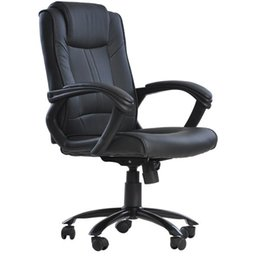 Discount ergonomic office chairs - Black PU Leather Ergonomic Office Executive Computer Desk Task Office Chair