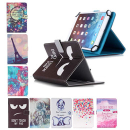 Wholesale Black Eye Dont Touch My Pad Effile Tower inch inch Universal PU Folio Wallet Leather Case Tablet Protective Stand Cover tablet case