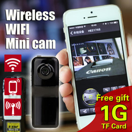 Hide ip wifi camera online shopping - free1GB TF Card MD81S Mini Camcorder Wireless WiFi Portable Camera Mini DV Micro IP Voice Video Recorder Espia hidden Cam