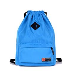 $enCountryForm.capitalKeyWord Canada - 5pcs lot 2017 New Arrival Casual Unisex Backpack Travel Bag Nylon Drawstring Shoulder Handbag Bag 6colors 31*14*38cm