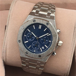 Best silver watches online shopping - All Subdials Work AAA Mens or womenes Watches Steel Quartz Wristwatches Stopwatch Luxury Watch Top Brand relogies for men relojes Best Gift