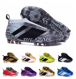 Cheap Pvc Football Canada - New Ace 16+ Purecontrol Soccer Shoes Cleats 16 Pure Control Football Shoes Men Soccer Cleats Boots Cheap Mens Football Shoes