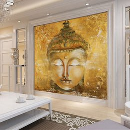 Vintage Buddha Photo Wallpaper 3D Custom Wallpaper Oil Painting Wall Murals  Bedroom Living Room Shop Art Room Decor Home Decoration Religion Buddha Wall  ... Part 90