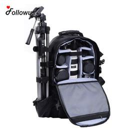 $enCountryForm.capitalKeyWord UK - Wholesale- Multifunctional Black Deluxe Camera Backpack Bag Case Sony Canon Nikon DSLR SLR