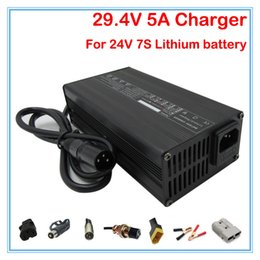 24v charger 5a Canada - 180W Output 29.4V 5A charger 24V 5A lithium Li-Polymer battery charger XLRM Port for 24V 7S Electric Bicycle Battery