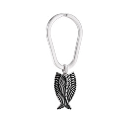 Metal Prices Steel Canada - Wholesale Factory Memorial Jewelry Price Punk Rock Feather Stainless Steel Cremation Jewelry Pendant Key Chain Women Men Accessories