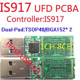 disk drive 2019 - Wholesale- USB FLASH DRIVE PCBA, Dual-side Pads TSOP48+BGA152 , IS917 Controller USB3.0 PCBA , DIY UFD KITS, IS917 flash