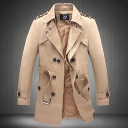 Mens Beige Double Breasted Trench Coat Online | Mens Beige Double ...