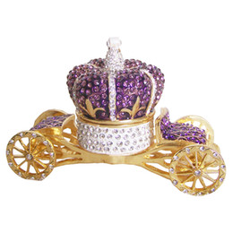 Box Carriage UK - Crown carriage wedding favor bejeweled faberge Trinket jewelry Box unique vintage decor creative gift