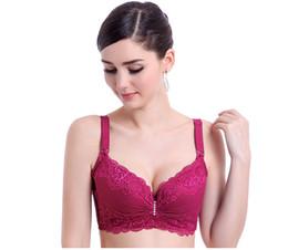 China Fashion Women Underwear Bra Sexy Lace Bras Plus Size Gather Ultra Thin Breathable Adjustable Type Steel Underwear Bra suppliers