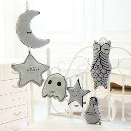 Design baby pillow online shopping - INS Baby Plush toys KIDS luminous Moon Stars Bulb Design bolster Children pillow cushion children s Room cotton bulb Decorative cushion