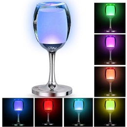 bedroom night lamp Canada - Christmas LED Cup Desk Lamp Touch Sensor Table Lamp Led Bedroom USB Night Lights for Indoor Deco Wine Glass Cup Shape