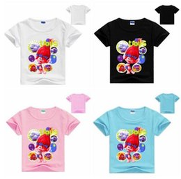 78abf17bf 2-8Years Hot Sales Kids Shirts Girls Shirt Trolls Clothes Teenage Boys  Clothing T Shirt Children Summer Short Sleeves