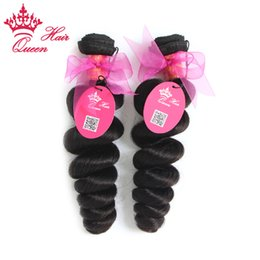 Discount queen hair virgin brazilian loose - Queen Hair Brazilian Virgin Human hair weave wavy best selling natural color Loose wave hair extensions 2pcs lot mixed l