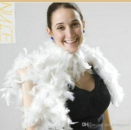 Boa Feather Wraps NZ - 200pcs Glam Flapper Dance Fancy Dress Costume Accessory Feather Boa Scarf Wrap Burlesque Can Saloon #Z903