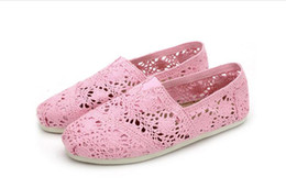 $enCountryForm.capitalKeyWord UK - Foreign trade adicolo Lace Crochet canvas shoes happy Marie shallow mouth flat shoes slip-on wholesale manufacturer