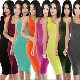 Barato Ternos De Saia Apertada-New Hot Sexy Lady Dresses Multicolor Hipwrap Tight Skirt Bandage Bodycon Vestido Falha Nightclub Suit For Party