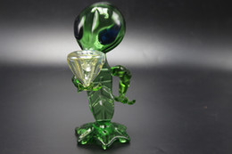 Cooling Bong NZ - Top Fashion Hand Glass Smoking Pipe Alien Shape Bubbler Pipes Cool Design Real High Quality Recycler Glass Bongs Water Pipes Rigs Glass