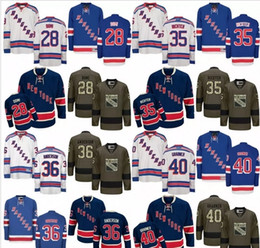 8544ab8aef6 ... Jersey Royal Blue White Ice Hockey Martin 2018 New York Rangers 40  Michael Grabner 36 Anderson 28 Dominic Moore 35 Mike Richter Vesey ...