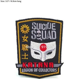 EmbroidEriEd patchEs online shopping - DC Legion of Collectors Batman Suicide Squad Joker Harley Quinn patch Badge Movie cosplay Embroideried Badge Halloween Costume cool patch