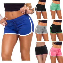 Wholesale Hot Shorts for Girls Casual Women Shorts Summer Woman Sports Cotton Short Pants Leisure Jogging Short Drawstring Black Blue Grey Green Pink