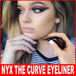 $enCountryForm.capitalKeyWord Canada - NYX THE CURVE liquid Eyeliner beauty meets function high quality waterproof cosmetics party queen eye makeup eyeliner 0.4MM