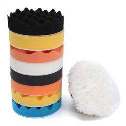 $enCountryForm.capitalKeyWord UK - Wholesale- 11pc 5 inch Sponge Polishing Buffing Waxing Pads Kit For Car Polisher + M14 Thread