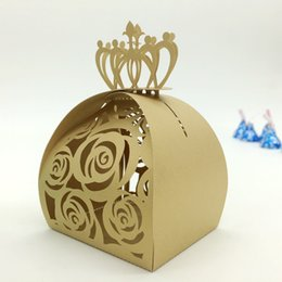 $enCountryForm.capitalKeyWord NZ - 2019 New Hollow Crown Wedding Favor Boxes Multi Color Laser Cut Flora Party Candy Package European Fashion Design Dropship