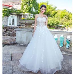 Short See Through Corset Wedding Dresses Online Short See