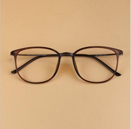 9f99fb6d80b Wholesale- Men s Vintage Brand Ultra-light Geek Carbon Steel Glasses Frame  Women Super Big Nerd Frame Decorative Myopia Eyeglasses frame decorative  eyeglass ...
