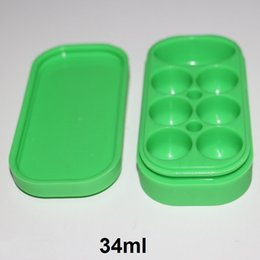 bho box UK - 34ml platinum cured silicone container silicone customized bho oil container silicone dry herb containers dab wax Box