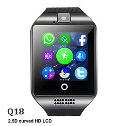 Italian Smart Watch NZ - Q18 Bluetooth Smart Watch Support SIM Card NFC Connection Health Smartwatches For Android Smartphone with Retail Package DHL Free Shipping