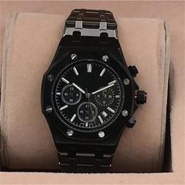 Best silver watches online shopping - Mens Watches Stainless Steel Quartz Wrist Luxury Watch relogies for men relojes Best Gift All Subdials Work