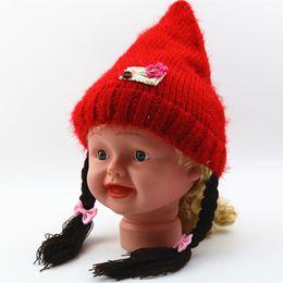 405b2221909 Baby Girls Braids Canada - Winter Girls Braid Hats toddler Kids Boy Baby  Knit Cap Bonnet