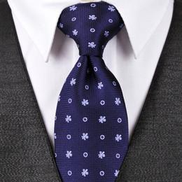 $enCountryForm.capitalKeyWord NZ - T092 Polka Dots Floral Navy Blue Mens Ties Neckties Hanky 100% Silk Jacquard Woven Wholesale Tie Set Fashion Suit Gift For Men